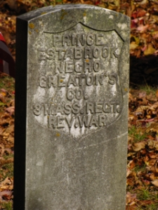 Prince Estabrook's headstone