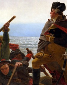 In Emmanuel Leutze's legendary canvas Washington Crossing the Delaware you can clearly see an African American rowing the boat.  Leutze was an abolitionist himself and may have intended to use this as a symbolic gesture.