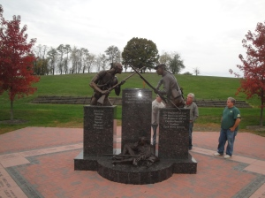 New monument at Bushy Run Battlefield