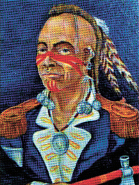Shawnee war chief Blue Jacket.