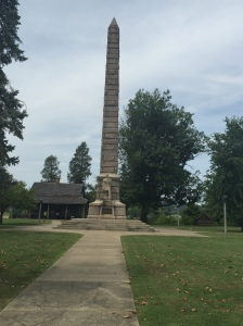 The 84 foot-high obelisk on the site of the mass grave of the Virginia soldiers killed at Point Pleasant