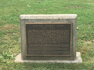 Monument to Col. Andrew Lewis.