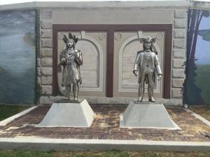 Statutes of Col. Lewis and Chief Cornstalk.