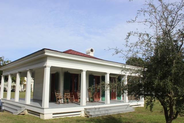 "The restored ""Library Pavilion"" The original was damaged by Hurricane Katrina."