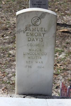 Samuel Emory Davis's Toombstone