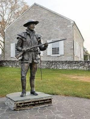 Daniel Morgan Statute in Winchester, Virginia (courtesy of Winchester Star)