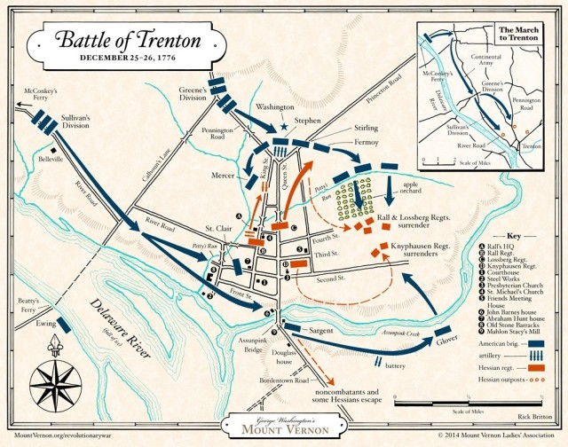 Battle of Trenton map courtesy George Washington's Mount Vernon