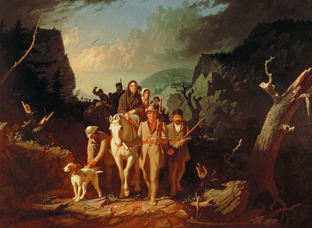 Daniel Boone Escorting Settlers through the Cumberland Gap (1851–52) by George Caleb Bingham.