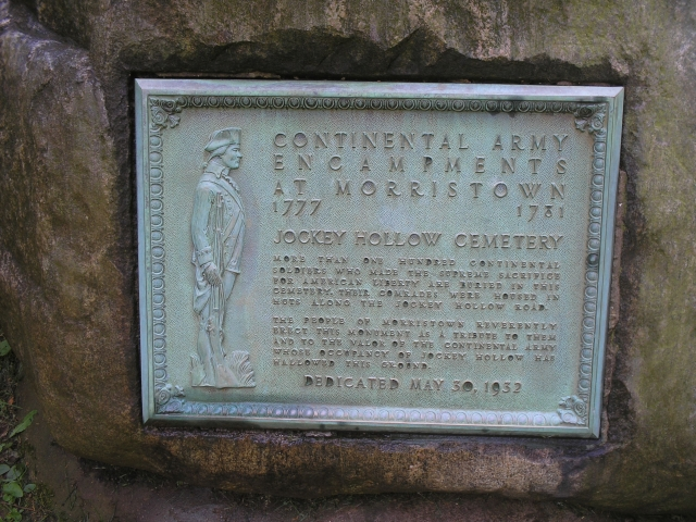 Jockey Hollow Cemetery Marker