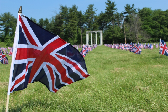 Close Up - Flags on Memorial Day