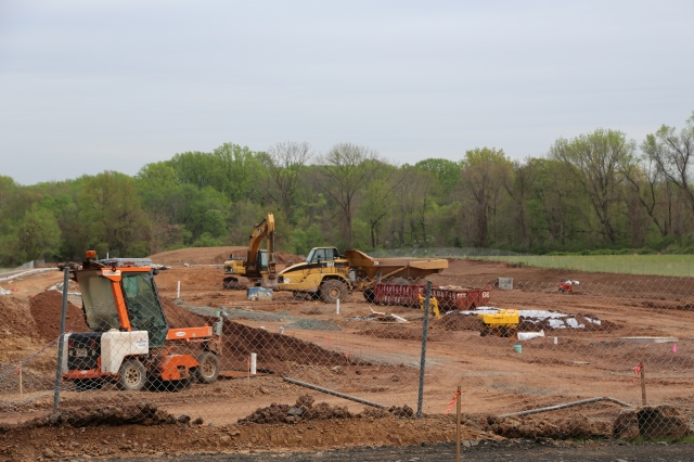 Construction at Maxwell's Field