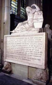 Memorial to George Augustus, Viscount Howe, in Westminster Abbey, London, England