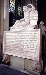 Memorial to George Augustus, Viscount Howe, in Westminster Abbey, London, England