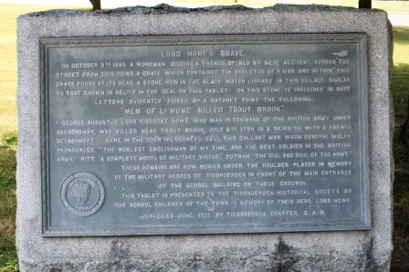 Lord Howe Monument at Fort Ticonderoga
