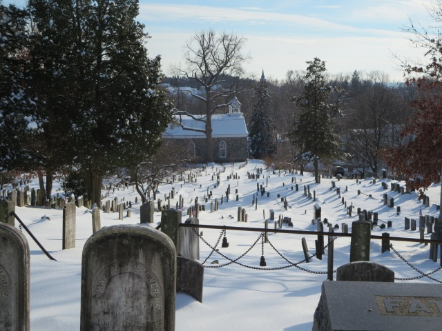 This is the cemetery around the Dutch Church in Sleepy Hollow, NY where the grave of the Headless Horseman was supposedly buried.