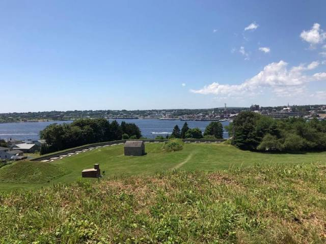 A view of New London and the Thames River from Fort Griswold