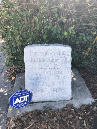 D.A.R. stone marker (FYI ADT sign is for the residence next door)