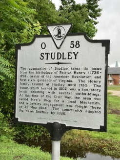Studley state historical marker