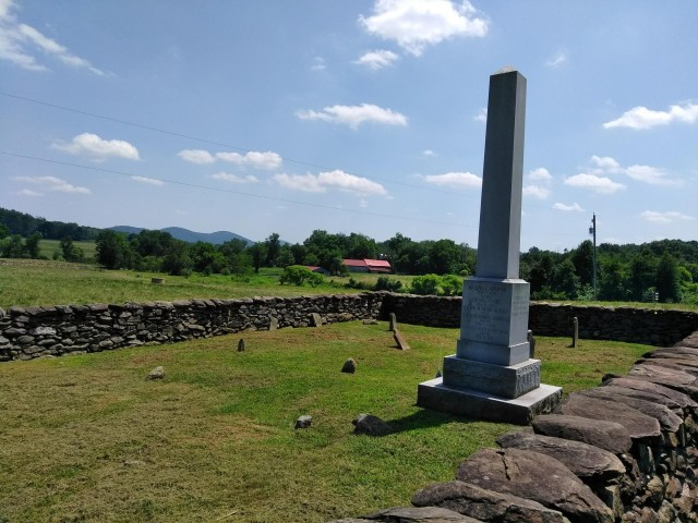 The Ashby Family Cemetery near Delaplane, Virginia. Final resting place of Captain John Ashby, as well as much of the rest of his family. The cemetery is on private property but can be s