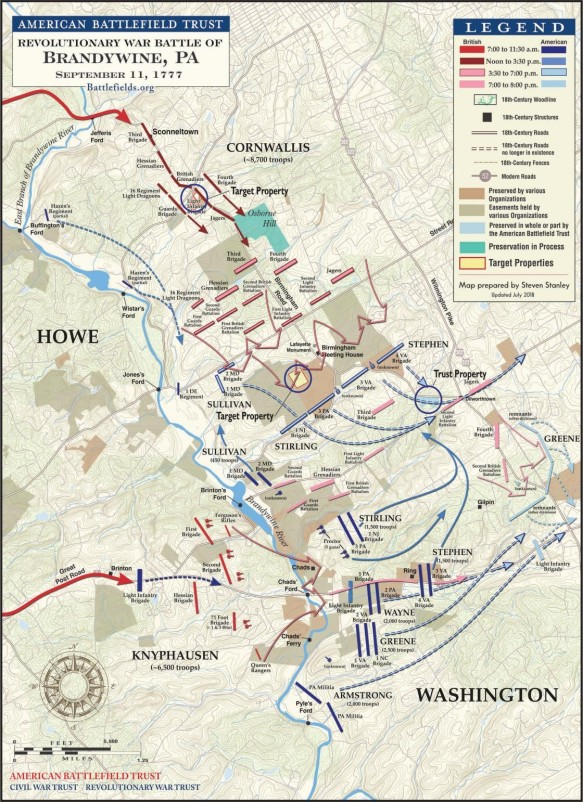 The Battle of Brandywine, September 11, 1777 (American Battlefield Trust)