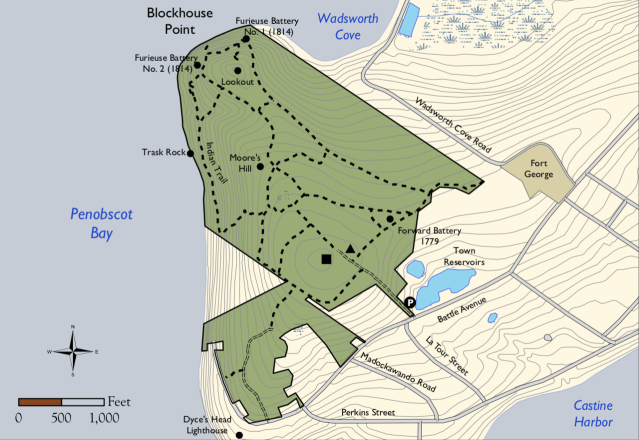 Witherle Woods Trail Map (Maine Coast Heritage Trust)