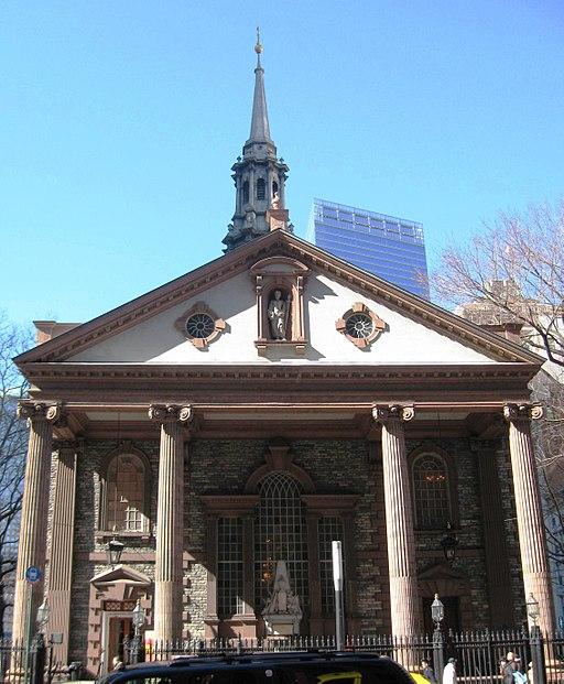 St Paul's Chapel New York (Wikimedia Commons)
