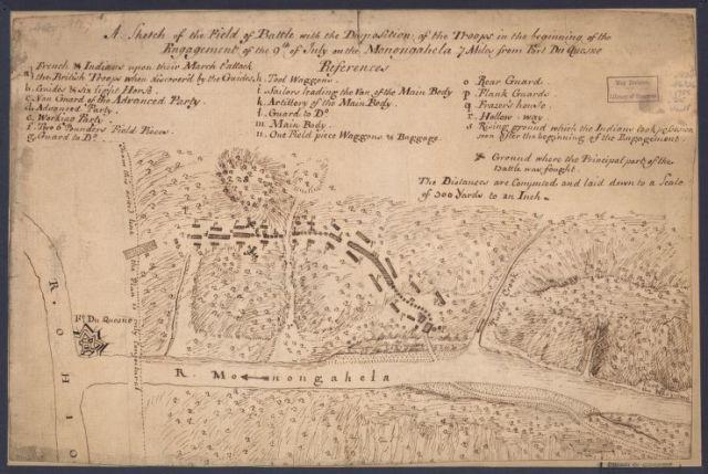 Monongaela Battle (Library of Congress)